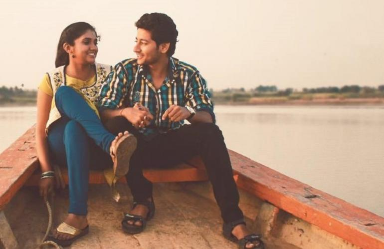 Image description: Still from movie Sairat about inter caste relationship