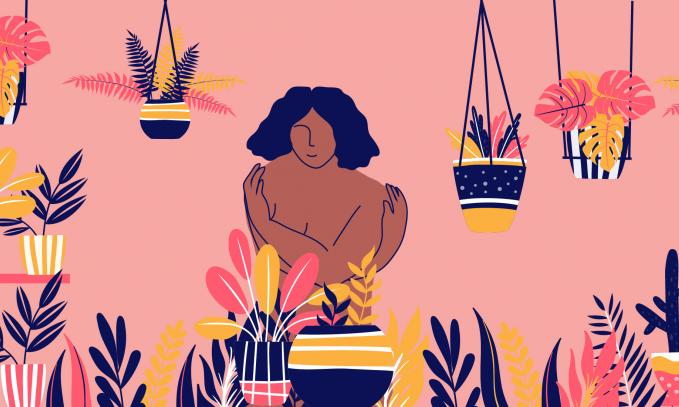 """Self-care"". Illustrations by Paru Ramesh"