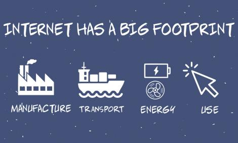 Internet has a big footprint
