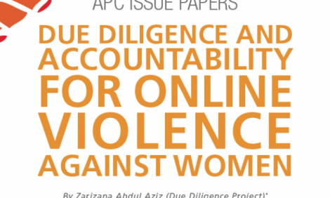 Cover of Issue paper on Due diligence and accountability for online violence against women