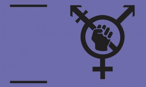 Image description: Symbol of gender with closed fist within